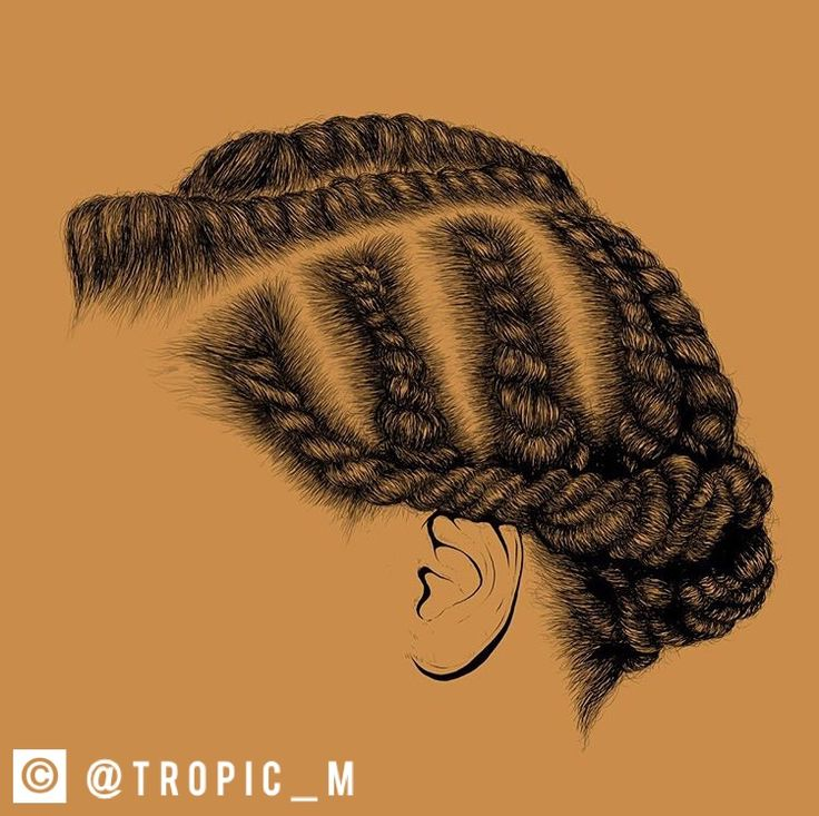 Protective Hairstyle! Follow: @Tropic_M for more✨❣️