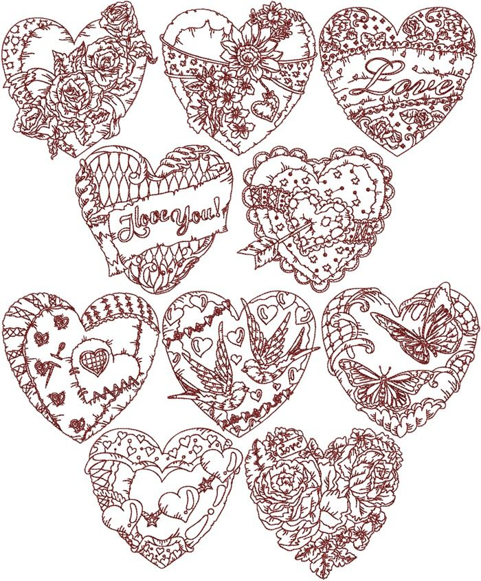 Best machine embroidery valentine s day projects images
