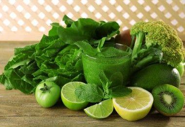 jugo verde vegetales