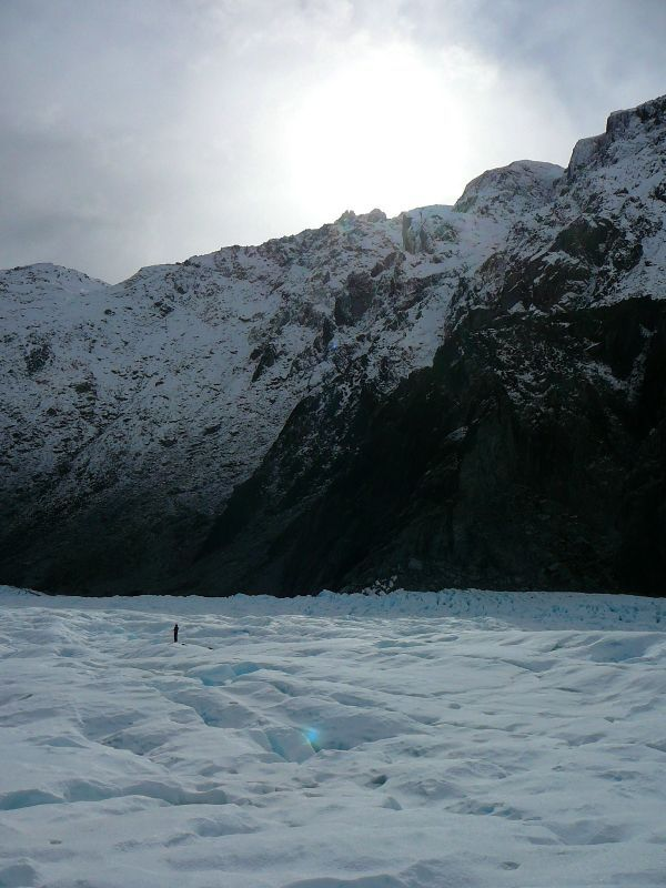 Trekking on Fox Glacier.