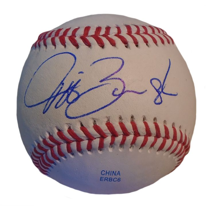 Jeff Banister Autographed Rawlings ROLB1 Leather Baseball, Proof Photo