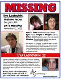 Ilya Lastovkin Missing- MA - 2009