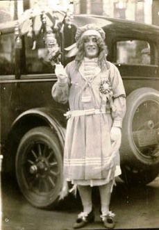 An unnamed reveler from the 1924 Mummers Parade Philadelphia