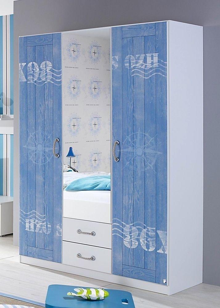 Simple Kleiderschrank Torben Wei Blau Buy now at https moebel