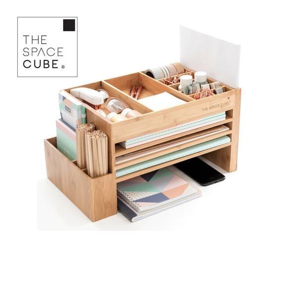 Wood Stationery Planner Accessories Organiser Office Supplies Holder Cute Desk Accessories Scrapbook Storage Craft Supply Storage Desk Organization Storage