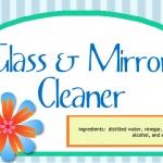 Homemade Glass & Mirror Cleaner