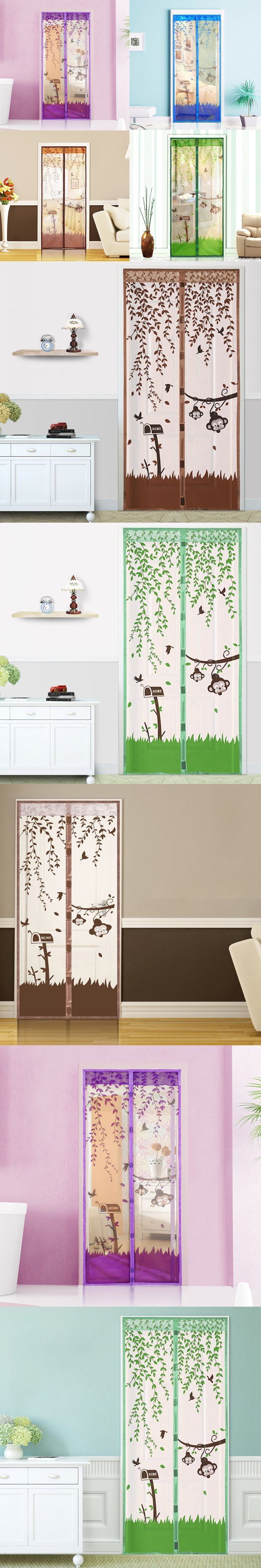 1PC High Quality 90*210cm/100*210cm Magnetic Mesh Screen Door Fly Bug Insect Mosquito Net Curtain T0.1