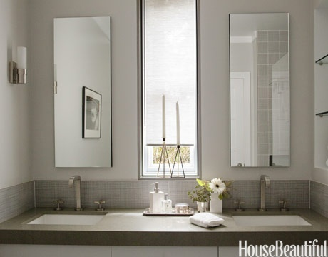 sleek contemporary bathroom