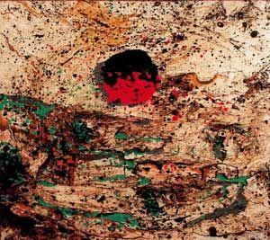 Enrico Baj, Montagna con sole, 1957