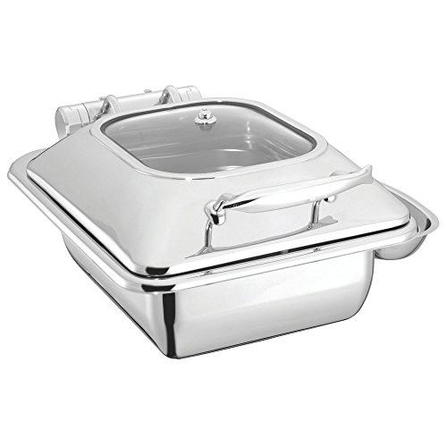 Half Size Stainless Steel Induction Chafer Chafing Dish With Glass Lid