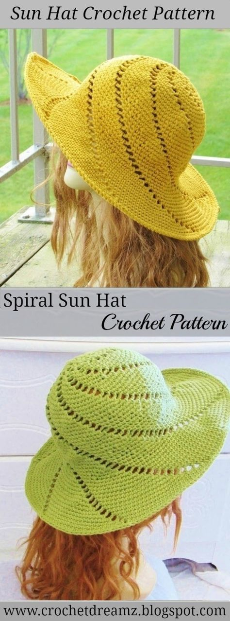 32 best Sombreros en croche images on Pinterest | Patrones de ...