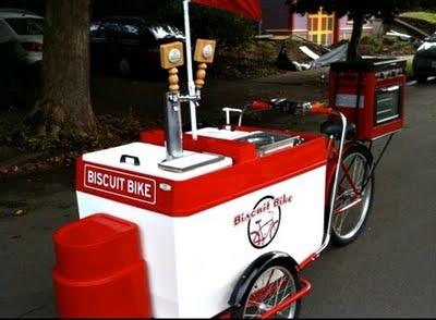 Vegan Biscuit Bike Food Vendor. Portland.