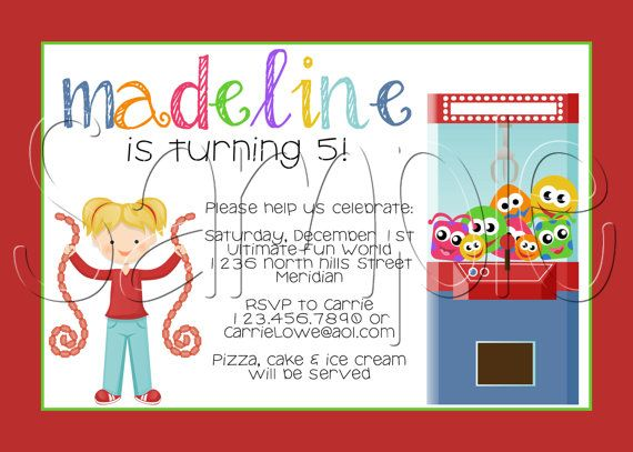 37 best Chuck E Cheese Party images – Arcade Party Invitations