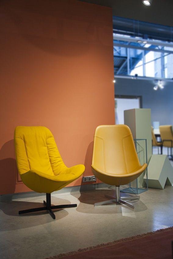 Gelderland fauteuil 7400 en 7405 by Scholten & Baijings #design #interieur #nieuw #imm2017 #oranje #geel