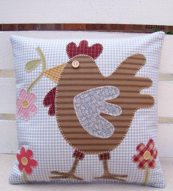 chicken pillow....love chickens...
