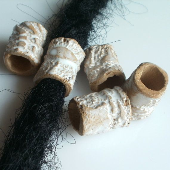 ceramic beads for dreads dreadlock cingari clay by SparkleCingari
