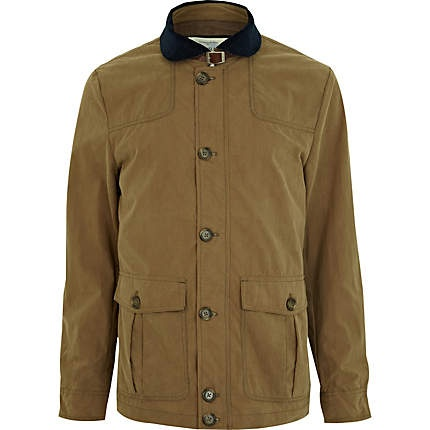 Stone Contrasting Shawl Collar Jacket, River Island, 65