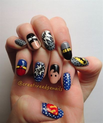 25 beautiful superhero nails ideas on pinterest batman nails superman 2 by creativeedge from nail art gallery prinsesfo Image collections