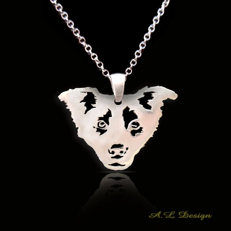 Sterling Silver Border Collie Necklace, Border Pendant, Border Necklace, Border Collie Dog, Border Collie, Border Jewelry, Dog pendants by TheDogsPlace on Etsy
