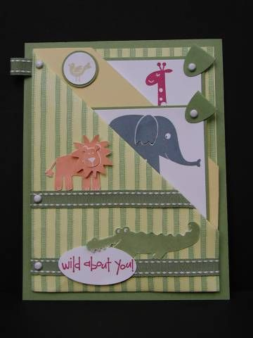 Pockets of Animals using Stampin Up Wild about You retired stamp set.