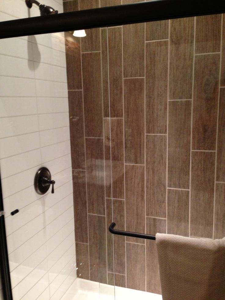 Vertical tiles subway tile tile shower tile pinterest ceramics wood tiles and subway Tile bathroom