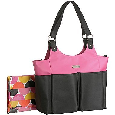 s 174 everyday tote bag black pink jcpenney
