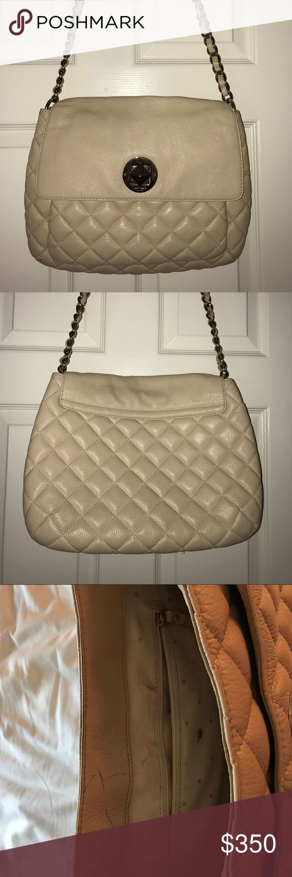 Kate Spade Quilted Leather Corinne Gold Coast Bag This gently used bag is perfect for transition from work to a night out. Lots of space for everything a girl could need! kate spade Bags Shoulder Bags