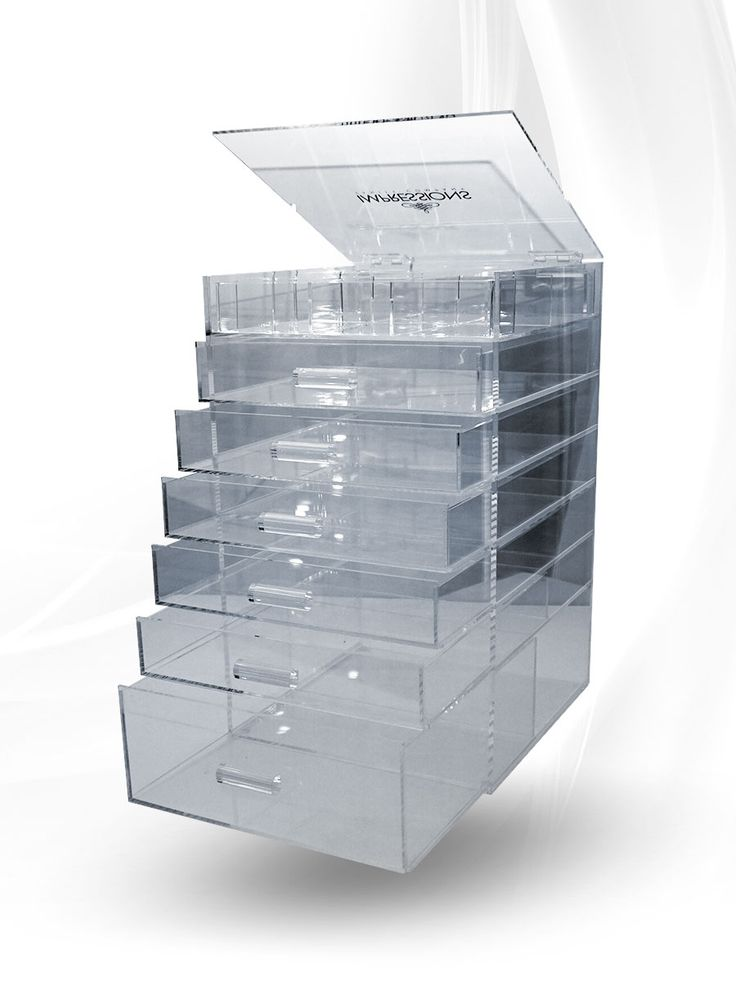 Impressions Vanity Clear Acrylic Organizer with 6 Drawers