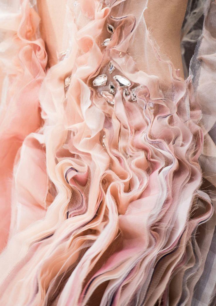 Rosa Silk Swarovski Organza Fashion Dress Ruffle Nuska Couture