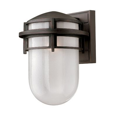 Hinkley Lighting Reef 1 Light Outdoor Sconce Finish: Victorian Bronze, Bulb Type: Incandescent