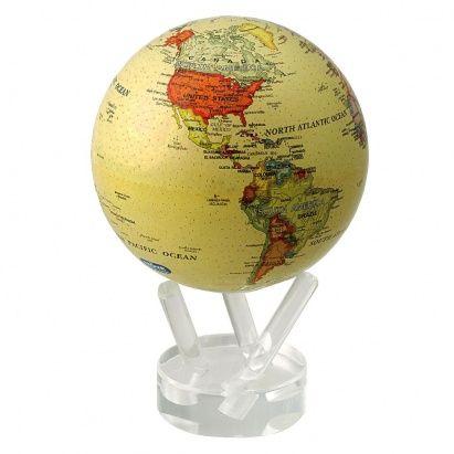 Не знаете, что подарить в #подарок любителю путешествий? Тогда глобус мобиле с политической картой мира станет прекрасным вариантом для решения вашей проблемы! Этот самовращающийся нано-глобус американской фирмы Mova Globe — новинка на мировом рынке. Для его изготовления используют новейшие разработки космического агентства NASA. Во время вращения настольной модели Земного шара над прозрачной подставкой из плексигласа, кажется, будто глобус висит в воздухе, что со стороны выглядит невероятно…