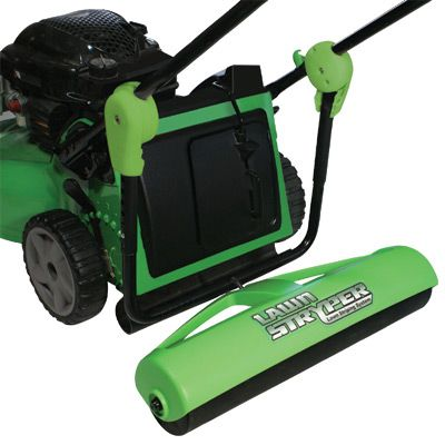 "Lawn Striper -$69.95- Do it like the Pro's.  Make patterns in your lawn just like the landscaping pros.  •	Designed for walk-behind self-propelled and push lawn mowers •	Fits 95% of lawn mowers •	Easy to attach •	Assembles in just 15 minutes with a screwdriver •	Lawn Pattern book included •	Roller needs to be filled with 16-20 lbs of sand (sand not included) • Stripe is 24"" wide"
