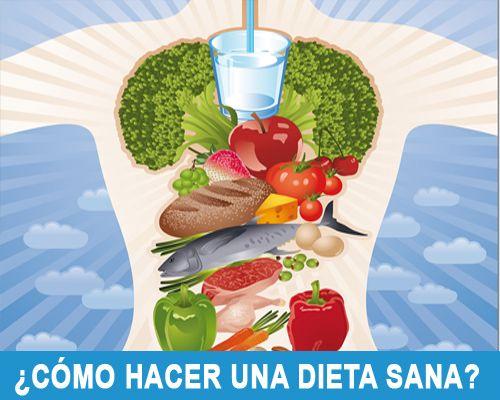 Como realizar una dieta saludable