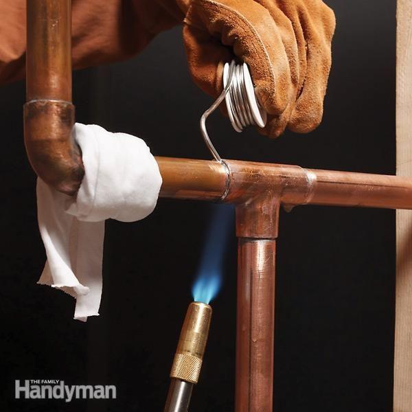Soldering Copper Pipe The Shop Plumbing Soldering