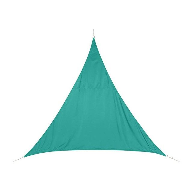 Voile d'ombrage triangulaire 5 x 5 x 5 m Curacao - Emeraude HESPERIDE