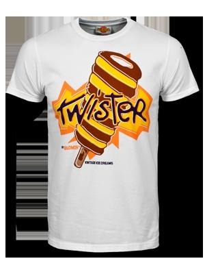 TWISTER t-shirt by BLOMOR x ALGIDA. Classic ice cream shirts.
