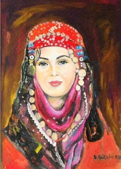 Köylü kızı - Eserleri - Turkish Paintings