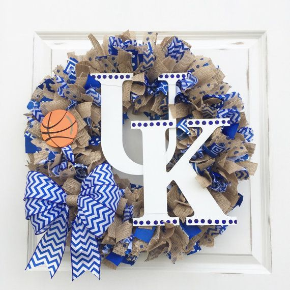 UK Wreath Kentucky Wreath University of by BluegrassAndBurlap