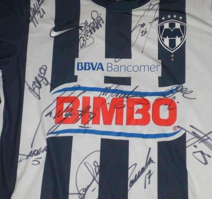 Team SIGNED Monterrey Soccer Jersey Lot NIKE Mexico Club de Futbol LARGE 2012 13 #Nike #Monterrey