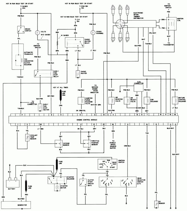15 1984 chevy truck electrical wiring diagram  truck