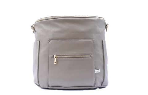 Stone Gray Fawn Design Diaper Bag