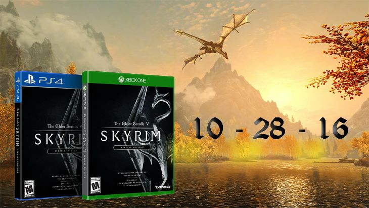 Today In Gaming History  Traveling only a year past it was October 28, 2016 when winner of more than 200 Game of the Year Awards, The Elder Scrolls V: Skyrim Special Edition brought the epic fantasy to life in stunning detail released on the Xbox One and PS4. This Special Edition includes the critically acclaimed game and add-ons with all-new features like remastered art and effects, volumetric god rays, dynamic depth of field, screen-space reflections, and more. Skyrim Special Edition also…