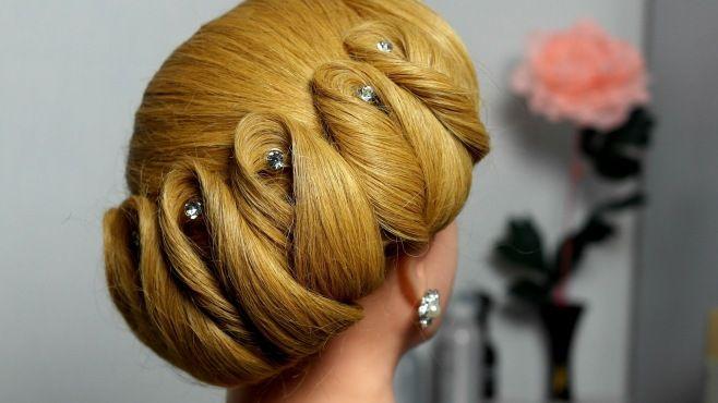 Gelin Şık Yan Örgülü Kabarık Saç Modeli Yapımı - Özel günler için veya günlük evde yapabileceğiniz gelin şık yan örgülü kabarık saç modeli tekniği (Wedding Prom Updo Hairstyles For Long Hair Video)