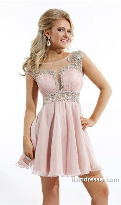 http://www.ikmdresses.com/2015-Stunning-Bateau-A-Line-Homecoming-Dresses-Short-Mini-Chiffon-With-Beads-And-Ruffles-p83664