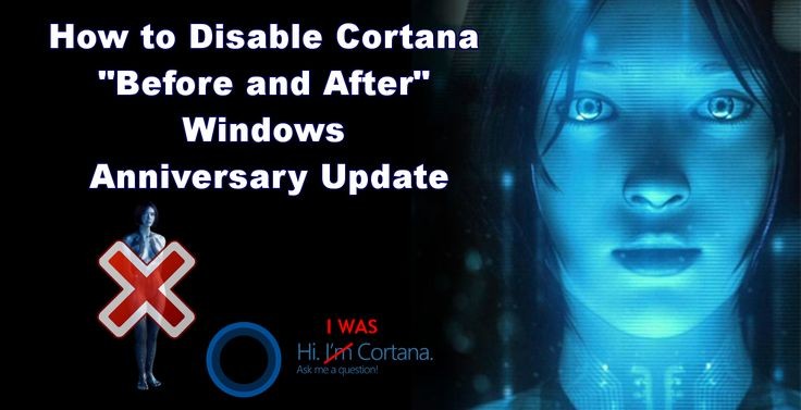 Cortana can be turned off, even after the Window 10 Anniversary Update. Find out how. #cortana #halo #windows +Downloadsource.net