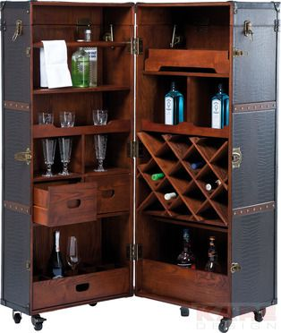 Wardrobe Trunk Bar Colonial