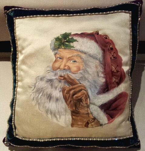 Cuscino decorativo dipinto a mano