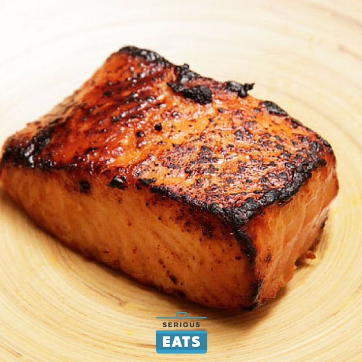 This is one of the easiest, least messy, fastest ways to cook salmon. Once you have it marinated, it's a matter of minutes in the toaster oven or broiler before it's ready to eat.