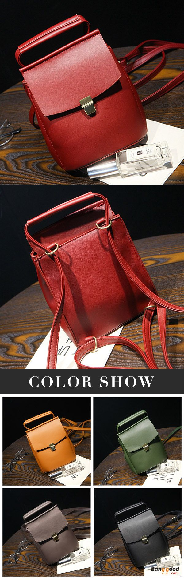 US$21.07+Free shipping. Women Bags, Mini Backpack, Handbag, Crossbody Bag, PU Leather, Retro, Elegant. Color: Black, Red, Gray, Green, Yellow Brown. Shop now~