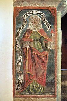 Regelinda von Zürich in der Kirche St. Peter und Paul auf der Insel Ufenau